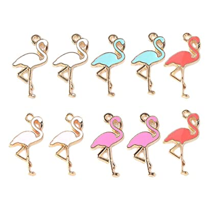 Charms Flamingo Charms Craft Supplies Jewellery Making charms and pendents