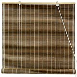 Oriental Furniture Burnt Bamboo Roll Up Window Blinds, Dark Olive, 48-Inch Wide by ORIENTAL FURNITURE