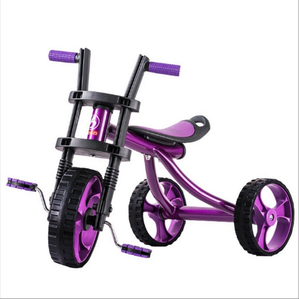 HAIZHEN マウンテンバイク 子供用三輪車、ビーチバイク、子供用自転車、2-5ベビーカー、ベビーおもちゃ車 新生児 B07C6R6MX2 パープル ぱ゜ぷる パープル ぱ゜ぷる