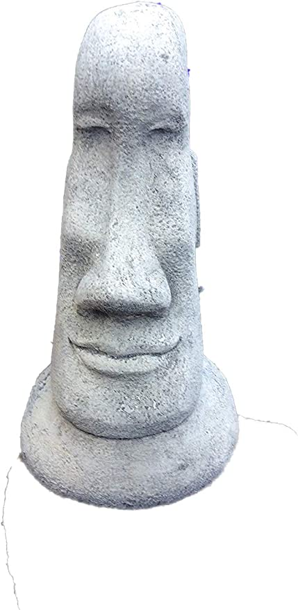 Country Garden Ornaments Stone Easter Island Head Moai Tiki - Figura Decorativa de jardín: Amazon.es: Jardín