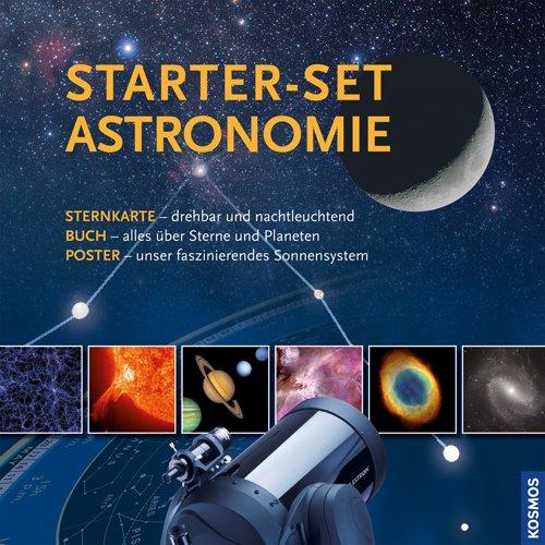 Starter-Set Astronomie: Nachtleuchtende Sternkarte, Buch und Poster