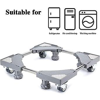 Base móvil para muebles o electrodomésticos ajustable con 4 pares de ruedas