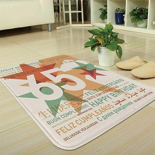 YOLIYANA tapete ultrasuave para decoración de 60 cumpleaños ...
