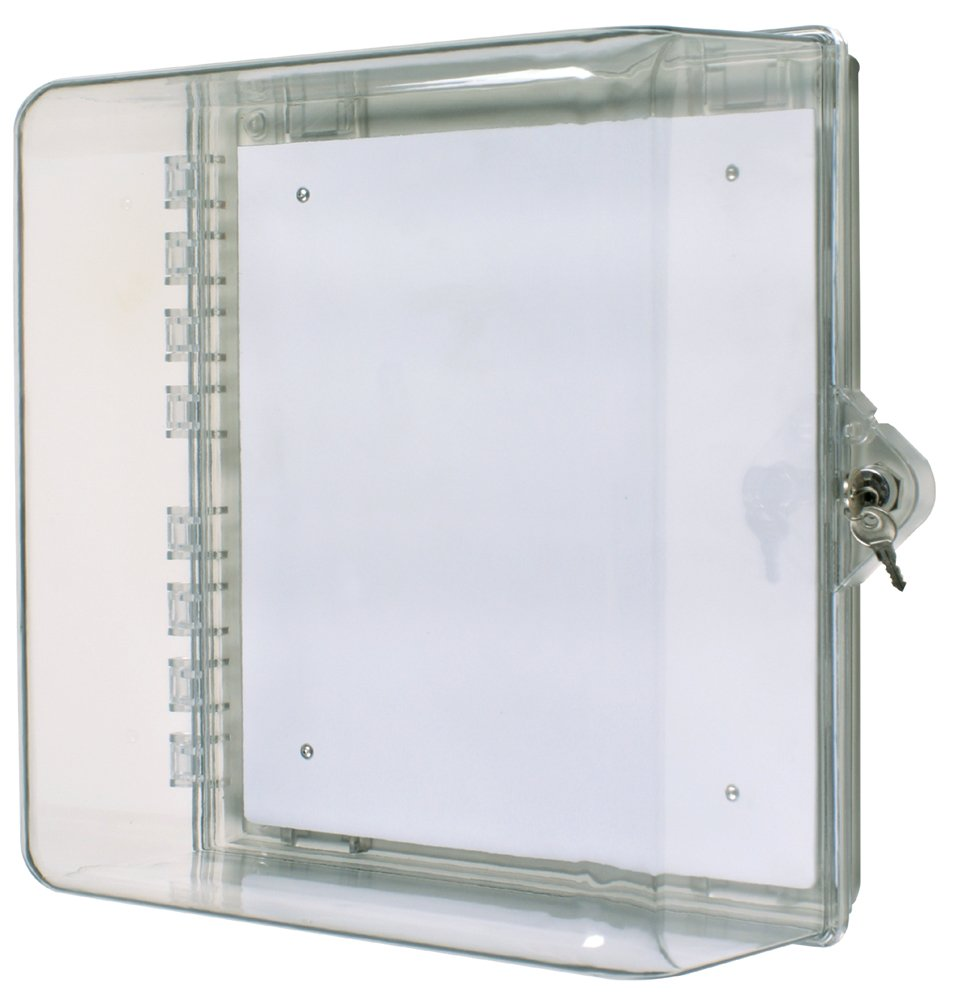 Safety Technology International, Inc. STI-7530 Protective Cabinet, Clear Multipurpose Polycarbonate Enclosure with Backplate and Key Lock