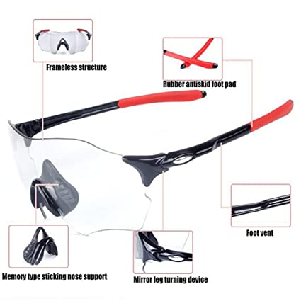 840d245c15 CDSS Cycling Glasses Mens women Discoloration Sports sunglasses Ultralight  frame HD PC Windbreak Eye protection Riding fishing ski drive glasses