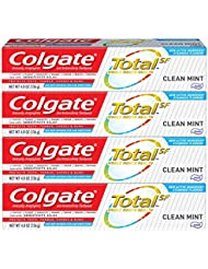 Colgate Total Toothpaste, Clean Mint - 4.8 ounce (4 Pack)