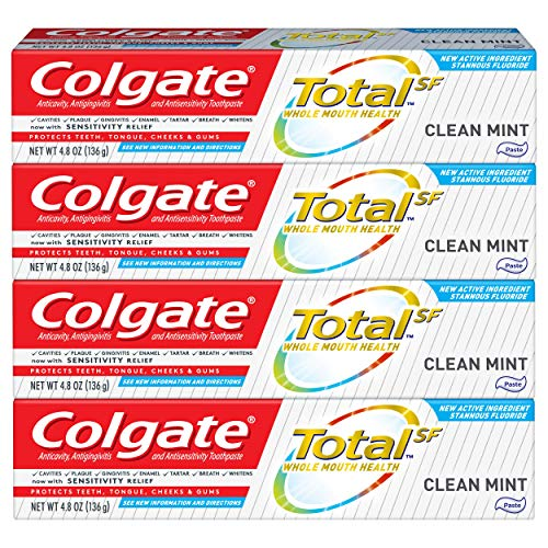 Colgate Total Clean Mint Toothpaste - 4.8 oz, 4 Pack