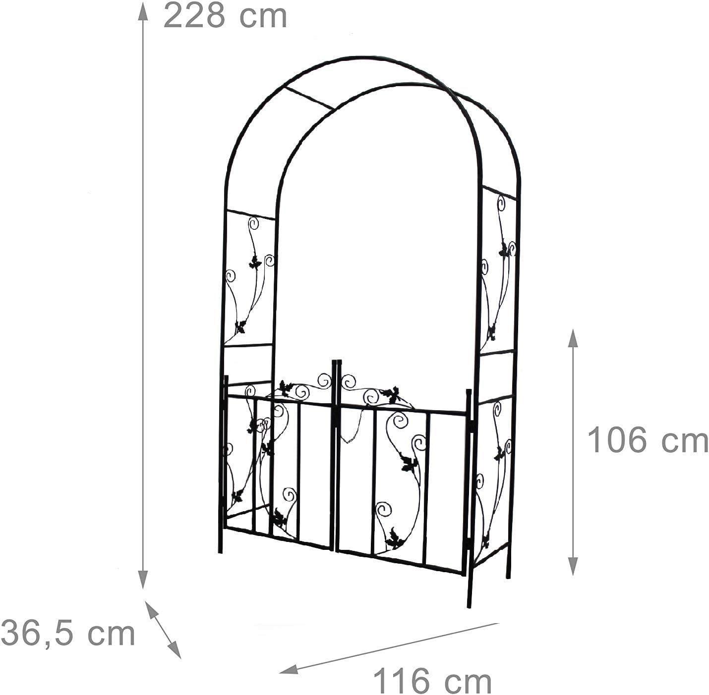 defacto - Arco para rosales con Puerta para enredaderas de jardín ...