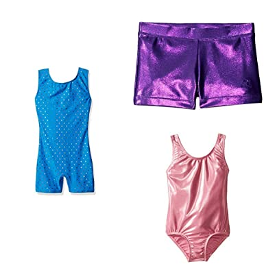 e0265a6c473a3 Amazon.com: Danskin Girls' 3-Piece Gymnastics Leotard Bundle: Clothing