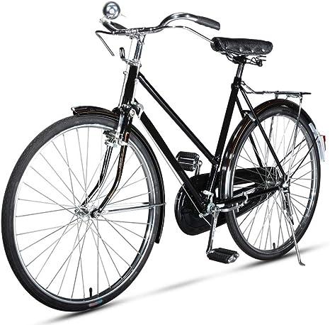 EEKUY Bicicleta de Ciudad Retro, Soporte de Bicicleta de Metal ...