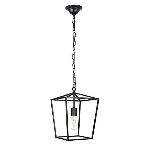Paragon Home Pendant Light Hanging Lantern Lighting Fixture for Kitchen and  Dining Room, Industrial Retro Iron Chandelier Fixture,E26 Base, Black ...