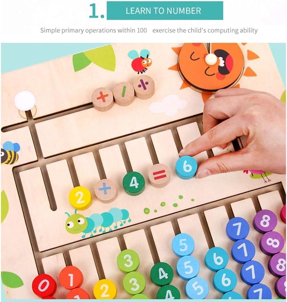 MYRCLMY Jouets Mathématiques Jouets Préscolaires Jouets d'apprentissage, Numérique Informatique Abacus pour Les Enfants Math Counting Jouets, Math Conseil De Comptage Et Mathématiques Red