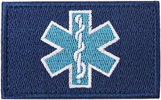 Snner Parches T/écnico M/édico Bordado Parche De Emergencia De Gancho Y Bucle Placas EMT Medic Apliques