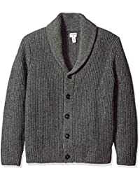 Men's Full Zip Cotton Shawl Collar Cardigan