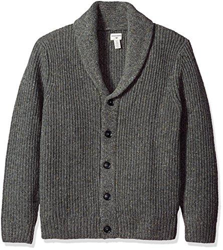 Dockers+Men%27s+Full+Zip+Cotton+Shawl+Collar+Cardigan%2C+Burma+Grey%2C+Large