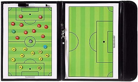 Dream-cool - Juego de mesa magnética de fútbol para entrenar y enseñar a la escuela, tablero táctico plegable para ejercicio, tablero táctico portátil: Amazon.es: Deportes y aire libre