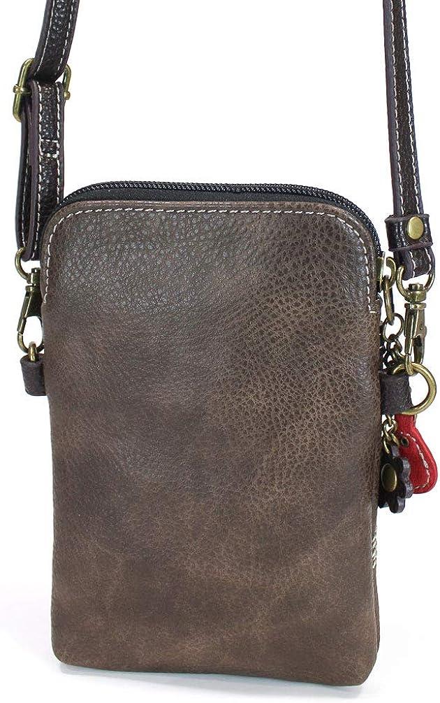 Brown Chala Crossbody Cell Phone Purse Guitar Women PU Leather Multicolor Handbag with Adjustable Strap