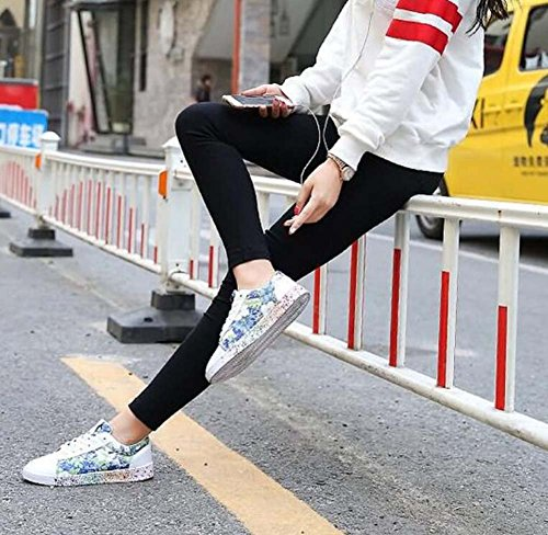 Slip Scarpe Colormatch Pump Casual Dimensioni Unisex Lace Snekers Eu 36 Su Up Scarpe Coppia Stampa Blue Plate 47 gxvEEYwq4