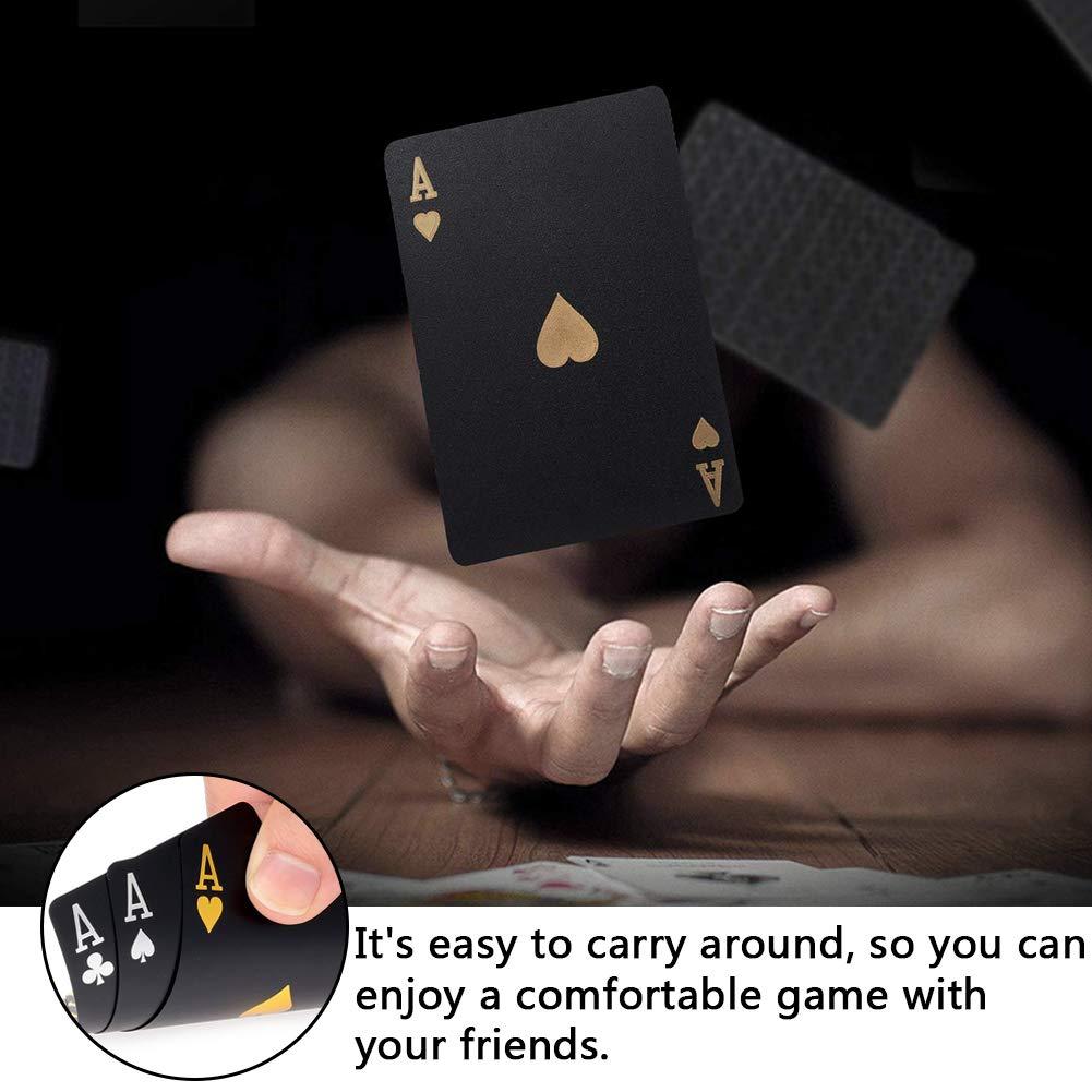 BETOY Carte da Poker 2PCS Set Carte da Gioco Impermeabile Professionali Carta da Gioco di Plastica per Il Vostro Piacere di Poker