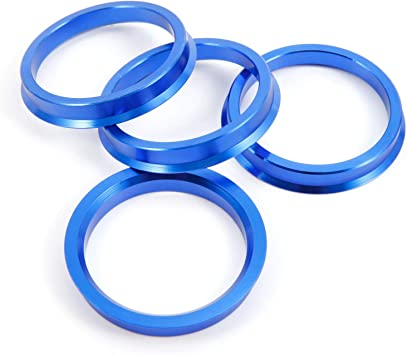 4 X Set anelli di centraggio cerchi in lega 76,9 mm X 67,1mm ZD-sistema ARGENTO