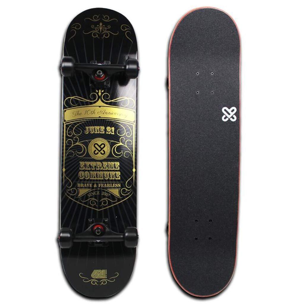 SMBYLL Extreme Commune Skateboard Anfänger Double-Up-Skateboard professionelles vierrädriges Skateboard Skateboard (Farbe   A) B07PZ61M39 Skateboards Direktgeschäft