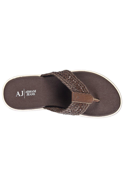 2246aed468225 Armani Men s AJ Flip-flops V658185 Brown Size  11  Amazon.co.uk  Shoes    Bags
