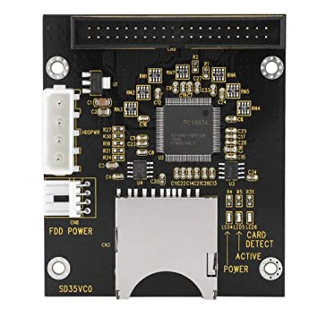 ASHATA Adaptador IDE de Tarjeta SD a 3,5 Pulgadas, Adaptador de Disco Duro IDE de 3,5