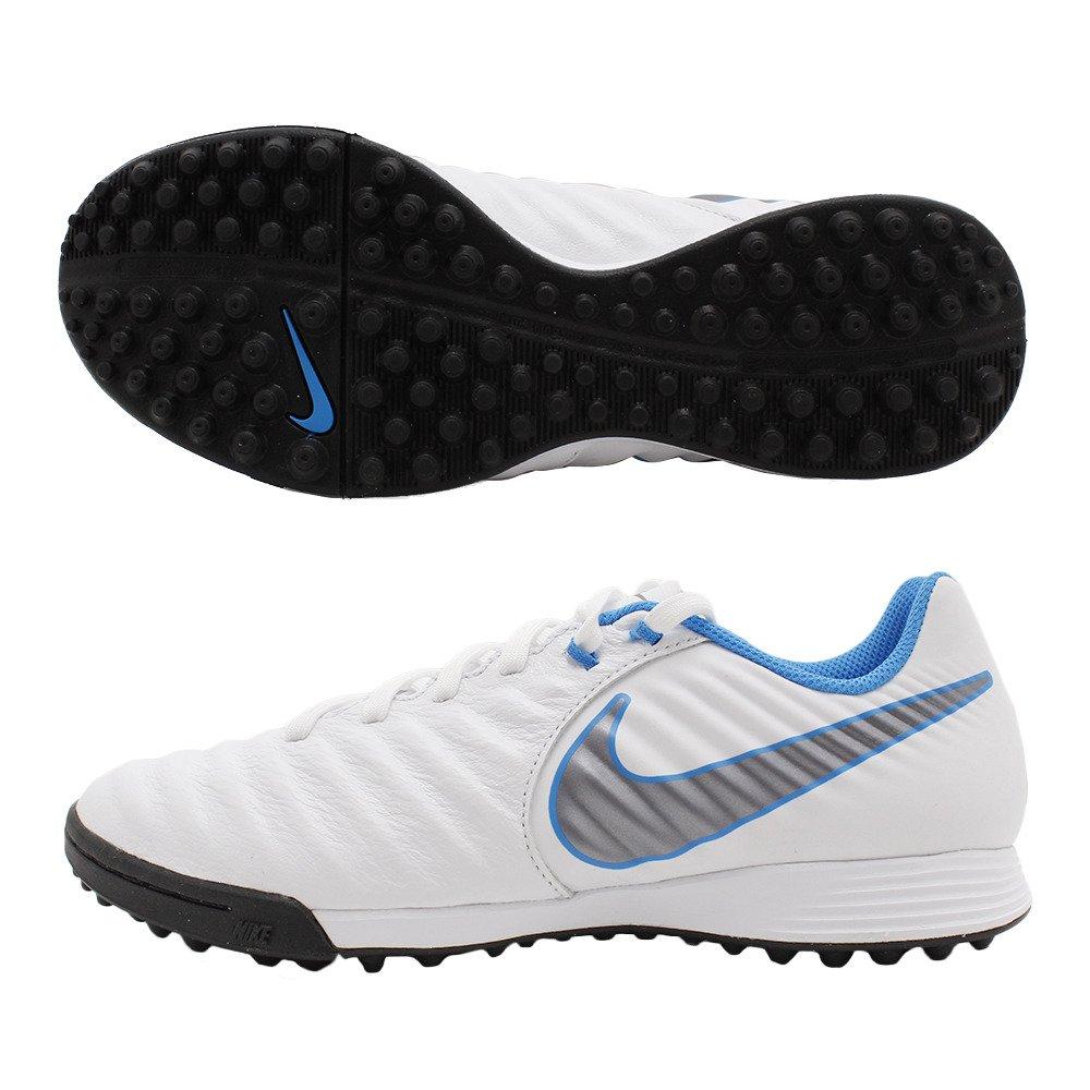 Nike Fußball Schuh Zeit legendx 7 Academy Sohle TF weiß blau Erwachsene