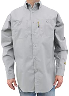 a48662136f3c Amazon.com  Bulwark Men s Flame Resistant 7 Oz Cotton Work Shirt ...