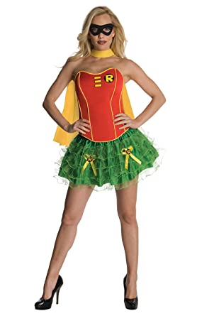 Secret Wishes DC Comics Robin Corset And Tutu Costume Red/Green X-  sc 1 st  Amazon.com : secret wishes robin costume  - Germanpascual.Com