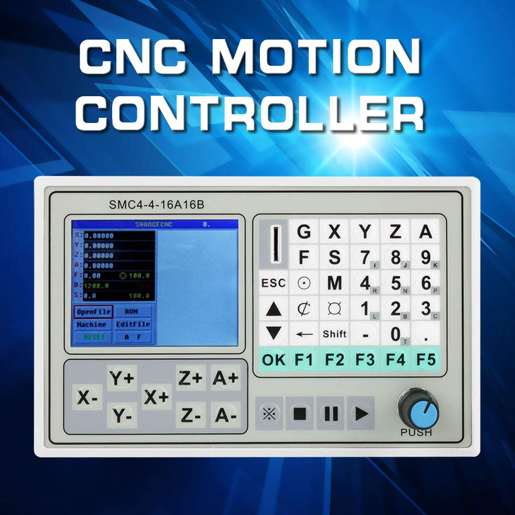 CNC-Bewegungssteuerpult SMC4-4-16A16B 4-Achsen-Motorsteuerger/ät f/ür Carving-Maschinensteuerungssystem