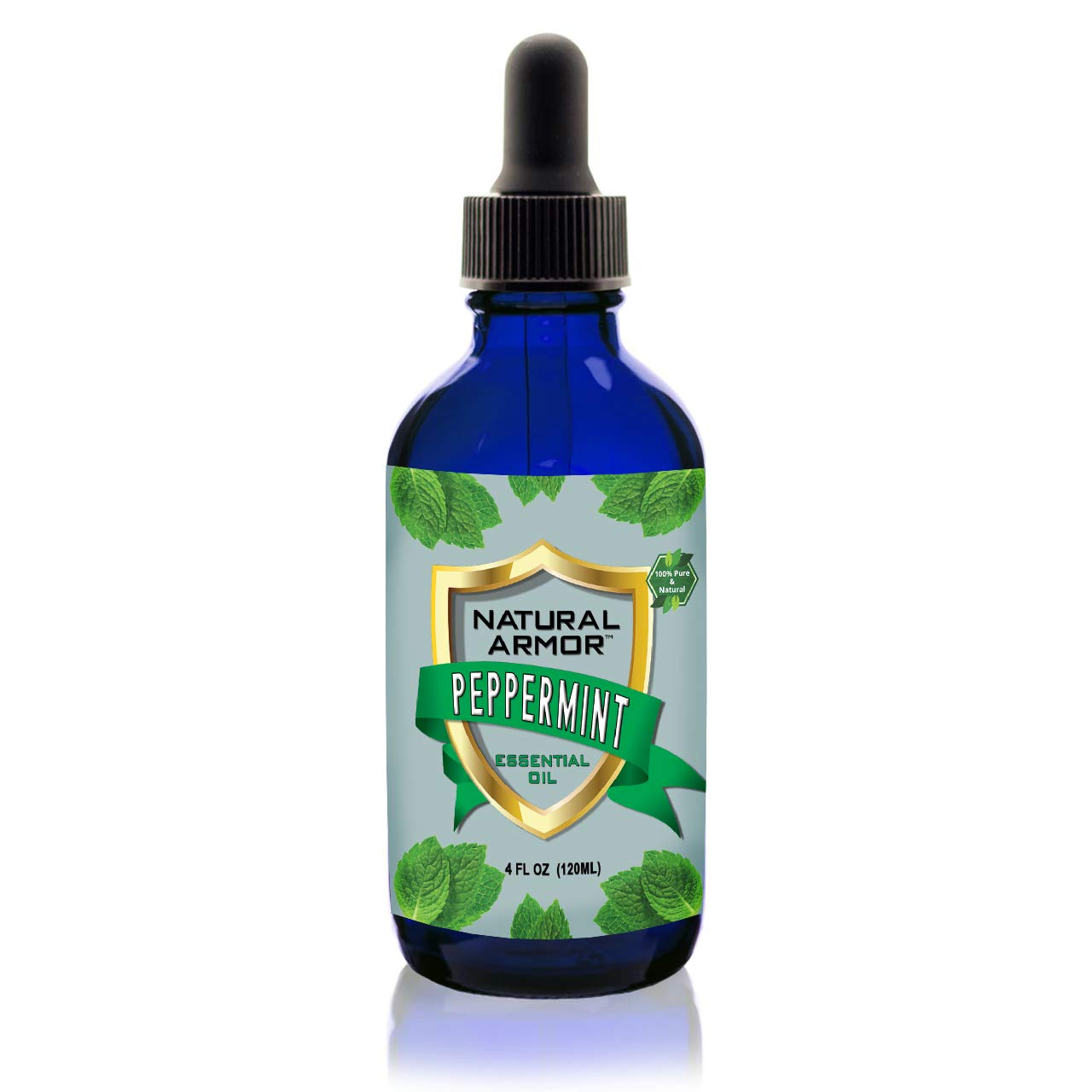Peppermint Essential Oil - 100% Pure (Undiluted) Natural Premium Organic Extract With Dropper Included. Therapeutic Grade, NON-GMO. Huge 4 FL. OZ. Bottle