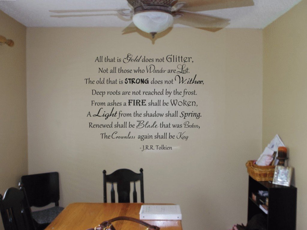 Amazon all that is gold does not glitter tolkien vinyl wall amazon all that is gold does not glitter tolkien vinyl wall decal home kitchen amipublicfo Image collections