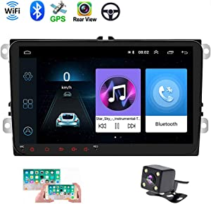 "Double Din Car GPS Navigation Head Unit 9"" Touch Screen for VW Skoda Octavia Golf Touran Passat B6 Jetta Polo Tiguan in Dash Autoradio Android Car Radio Support Bluetooth WiFi+ Rear View Camera"