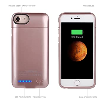 Funda batería iPhone 6 / 6S / 7 4.7, Mbuynow 3000mAh Cargador Batería integrada Recargable, Carcasa funda cargador iPhone 7 para iPhone 6 / 6S / 7 ...