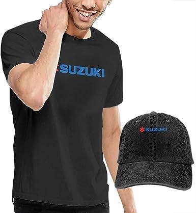 Baostic Camisetas y Tops Hombre Polos y Camisas, New Logo-Suzuki Fashion T Shirt+Cowboy Hat for Man Black: Amazon.es: Ropa y accesorios