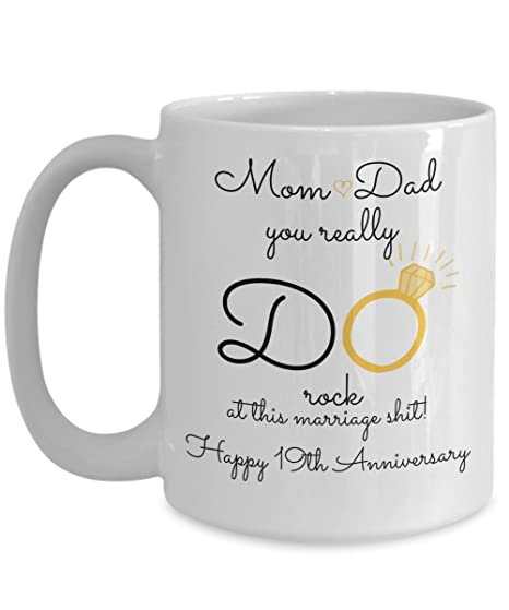 Image Unavailable. Image not available for. Color: 19th Wedding Anniversary Gift ...
