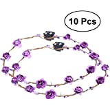 Frcolor Pcs Led Flower Wreath Headband Crown Floral Wreath Garland Headbands Purple