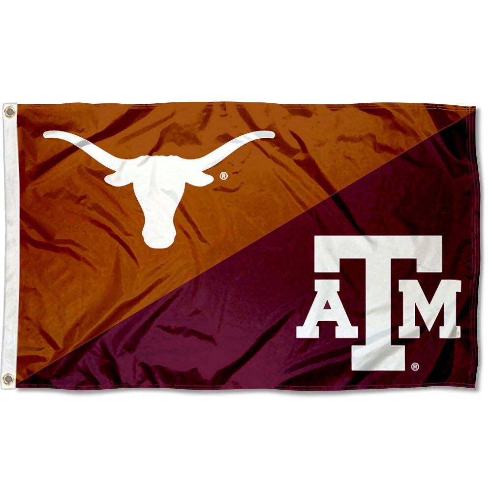 Texas vs Texas A/&M House Divided 3x5 Flag College Flags and Banners Co