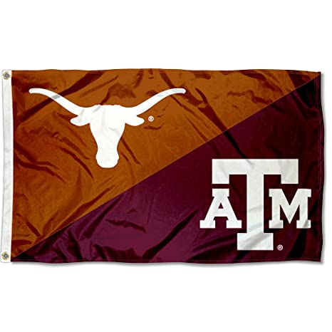1ec150530 Amazon.com : College Flags and Banners Co. Texas vs. Texas A&M House ...