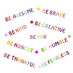 Be Kind Wall Decals Inspirational Quotes for Kids Rooms Be You Motivational Wall Art Stickers Positive Sayings Wall Decor for Playroom Classroom