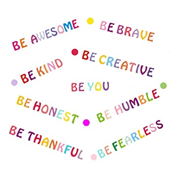 Amazon.com: Be Kind Wall Decals Inspirational Quotes for Kids ...
