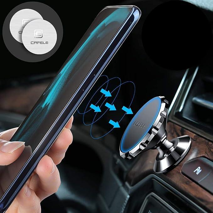 CAFELE Soporte magnético para teléfono de coche con rotación de ...