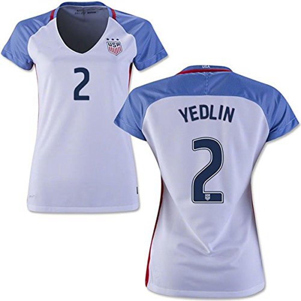 68a1a867cd8 Amazon.com  2016 Copa America USA Home Soccer Jersey  2 Yedlin Women s  Football Jersey  Books