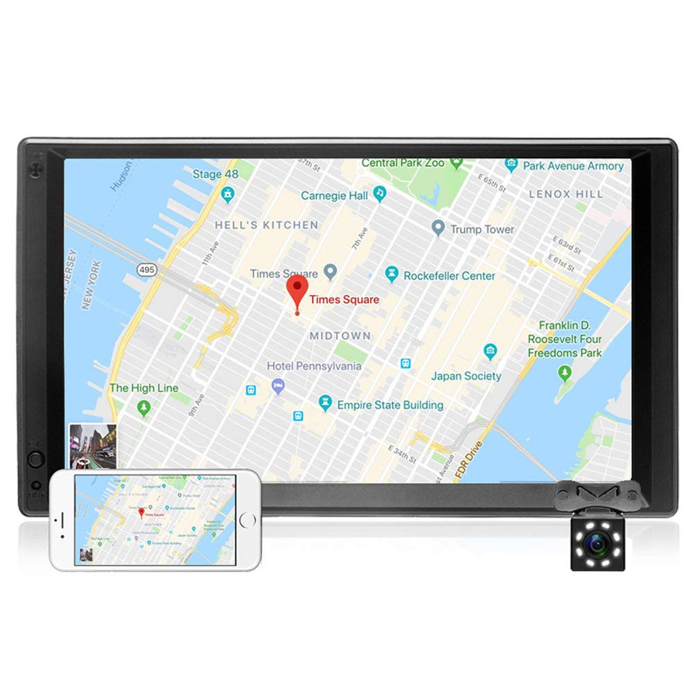2 Din Android Camecho Autoradio Lecteur 7 '' Universel WiFi GPS Navigation Voiture Vidé o Sté ré o Audio MP5 Lecteur HD É cran Tactile avec Camé ra Arriè re