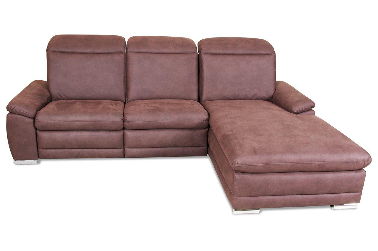 Sofa Sit&More Polsterecke Monsun - Luxus-Microfaser Braun