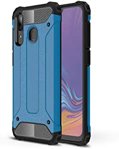 LAGUI compatible for Samsung Galaxy A30 case, Double Layer Professional Anti-collision Cover. blue