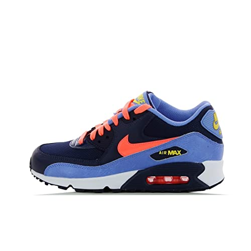 hoja Presidente Alrededores  Buy Nike Youths Air Max 90 Mesh Blue Leather Trainers 6 US at Amazon.in