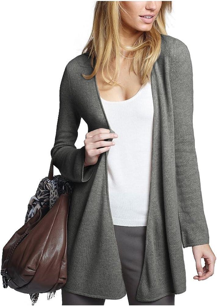 Parisbonbon Womens 100/% Cashmere V-Neck Cardigan Color Light Gray Size 1X