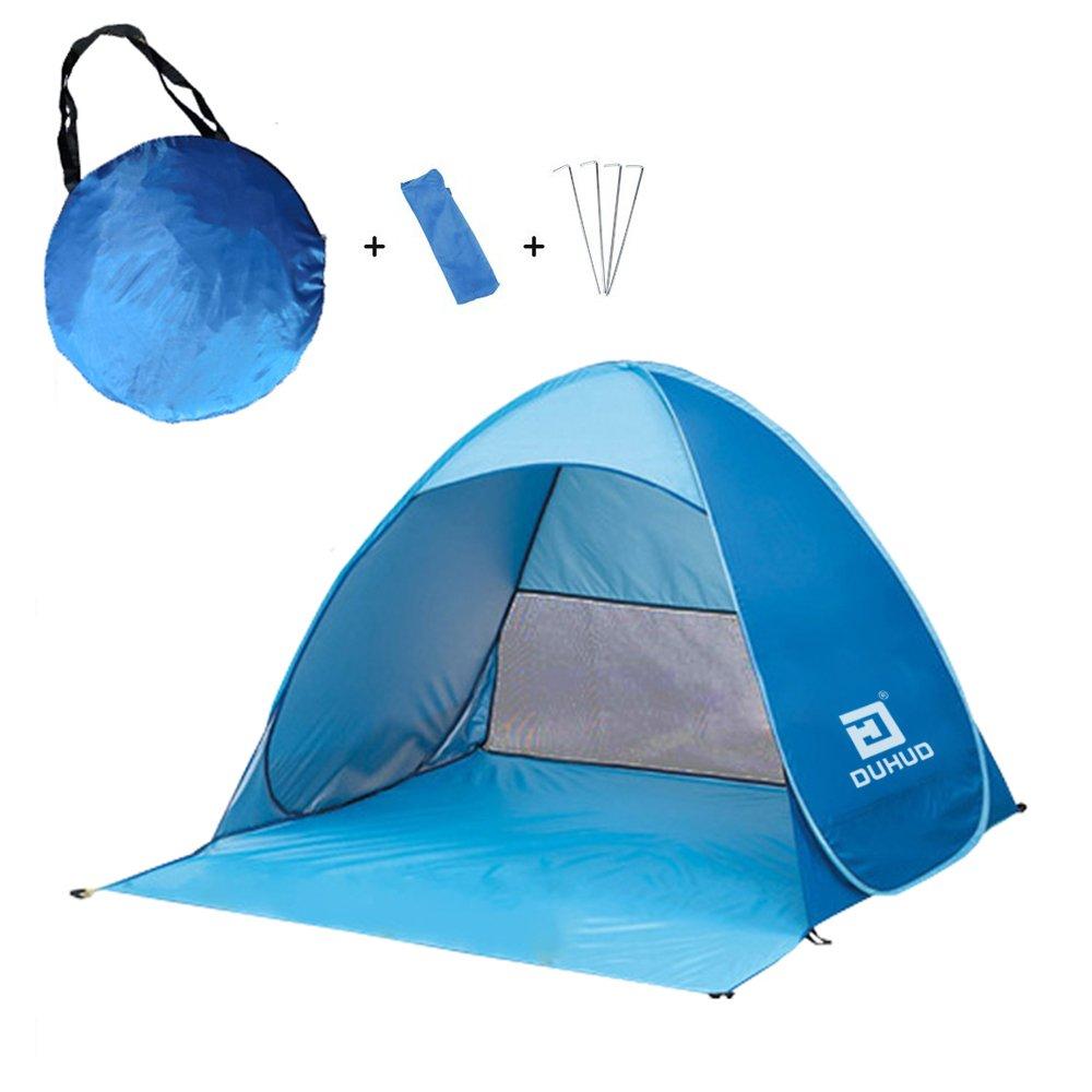 Duhud - Tente de plage auto-déployante, pour 2-3personnes anti-UV bébé Green